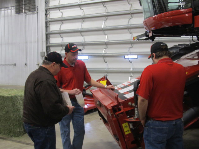 Certified service techs at Lake County International in Madison, SD.