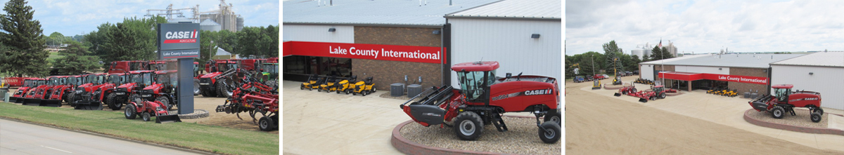 Lake County International Lot with machinery and ag equipment